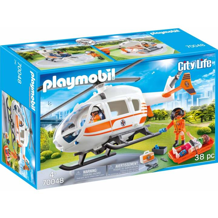 PLAYMOBIL City Life Hélicoptère de secours (70048)