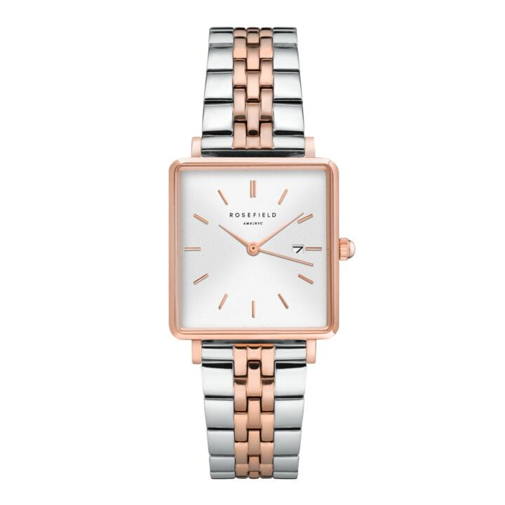 ROSEFIELD The Boxy White Sunray (Montre analogique, 26 mm)