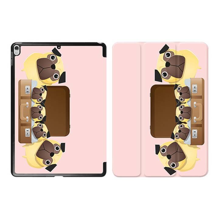 """EG iPad Hülle für Apple iPad Pro 10.5 """"- rosa Cartoon Hunde"""