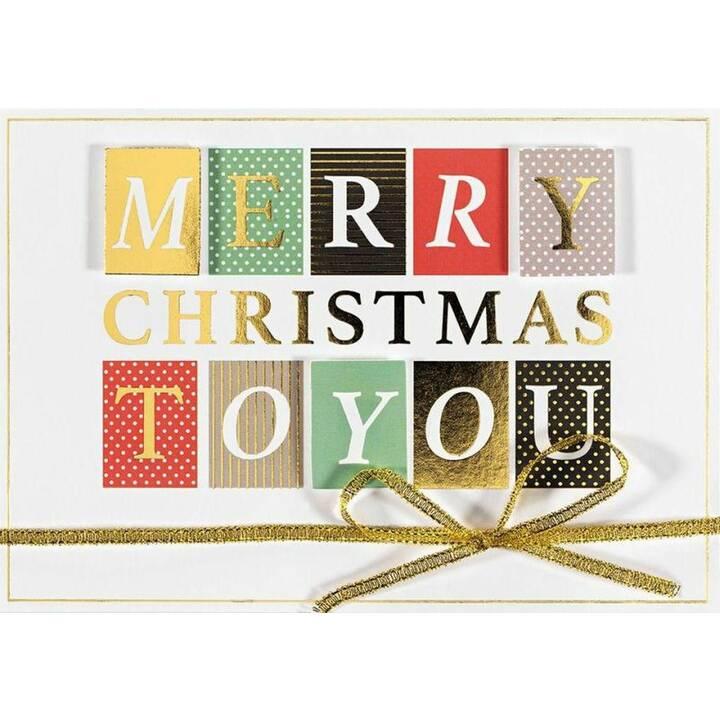 PERLEBERG Weihnachtskarte Merry Christmas To You (Weihnachten / Advent, Mehrfarbig)