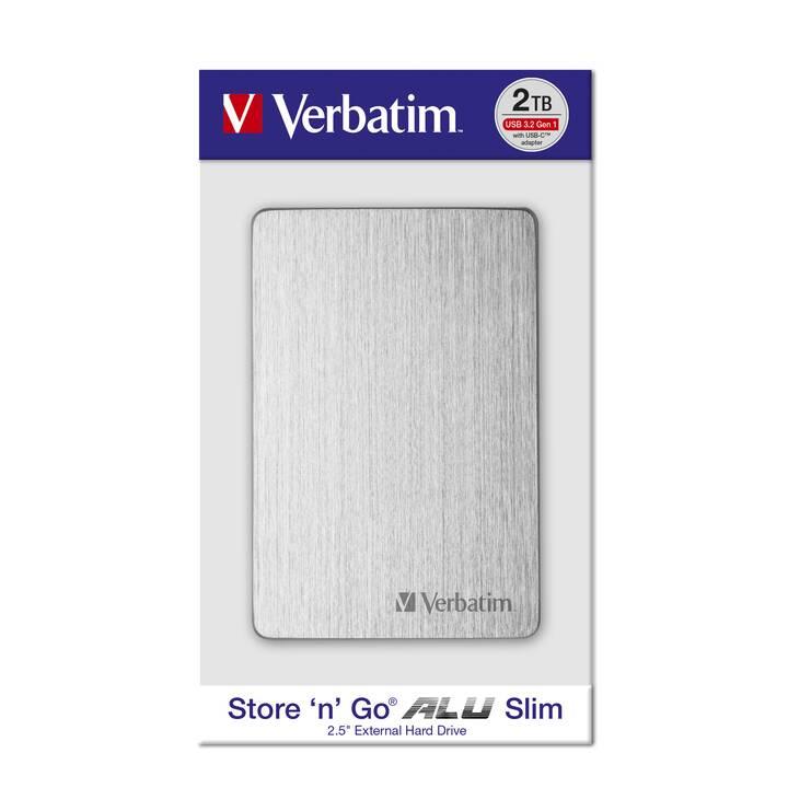 VERBATIM Store 'n' Go (microUSB, 1000 GB, Argent)