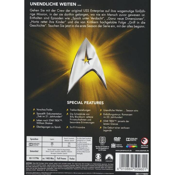 Star Trek - Raumschiff Enterprise - The Original Series Saison 1 (EN, IT, ES, DE, FR)