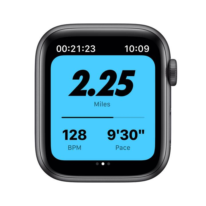 APPLE Watch Nike Series 6 GPS + Cellular, (44 mm, Alluminio, Silicone)