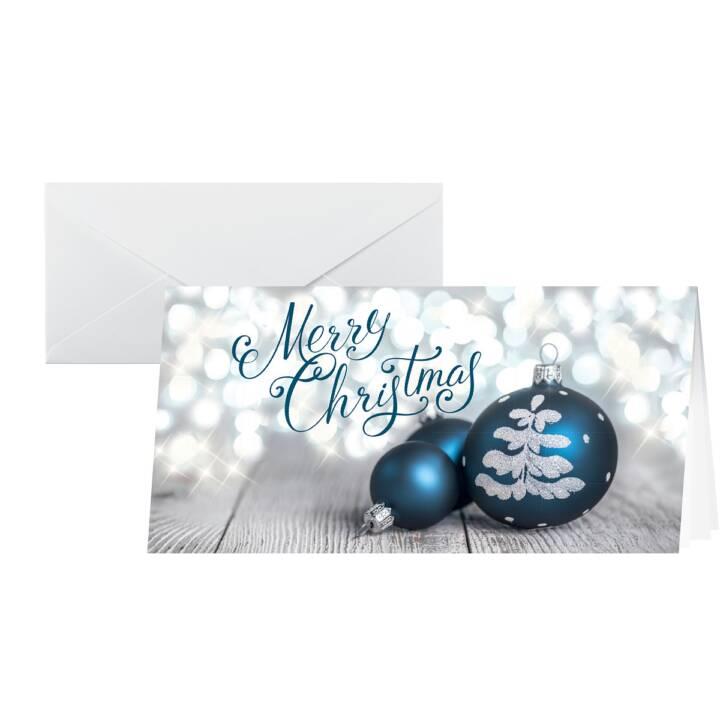 SIGEL Cartolina di Natale Delightful Christmas (A6, Argento, Blu)