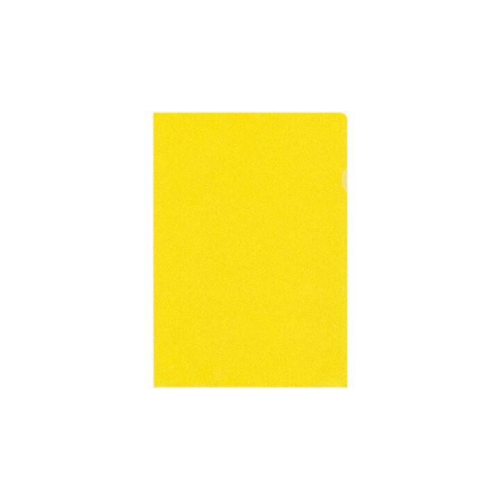 BÜROLINE Sichtmappen A4 gelb matt 10 Stück
