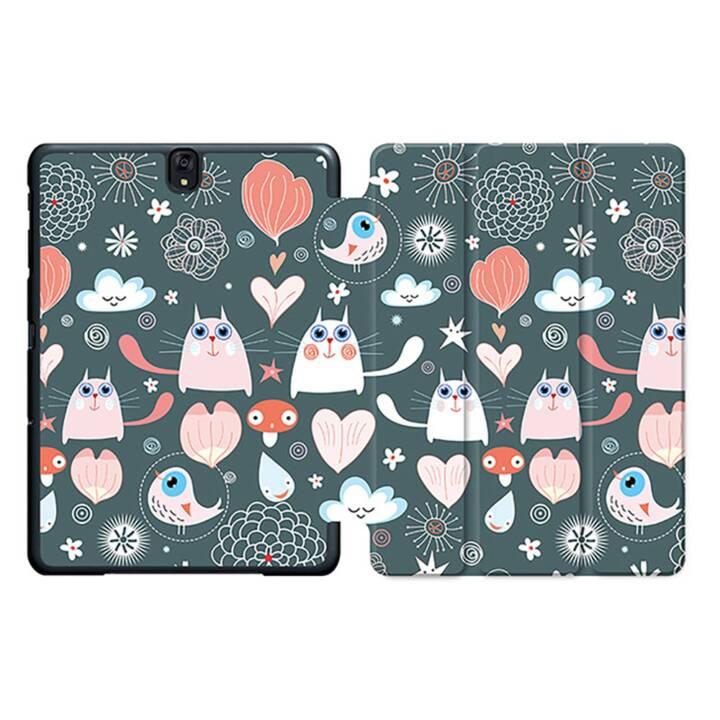 "EG MTT Tablet Bag con coperchio pieghevole Smart per Samsung Galaxy Tab S3 9.7"" - Cartoon Cats MTT"