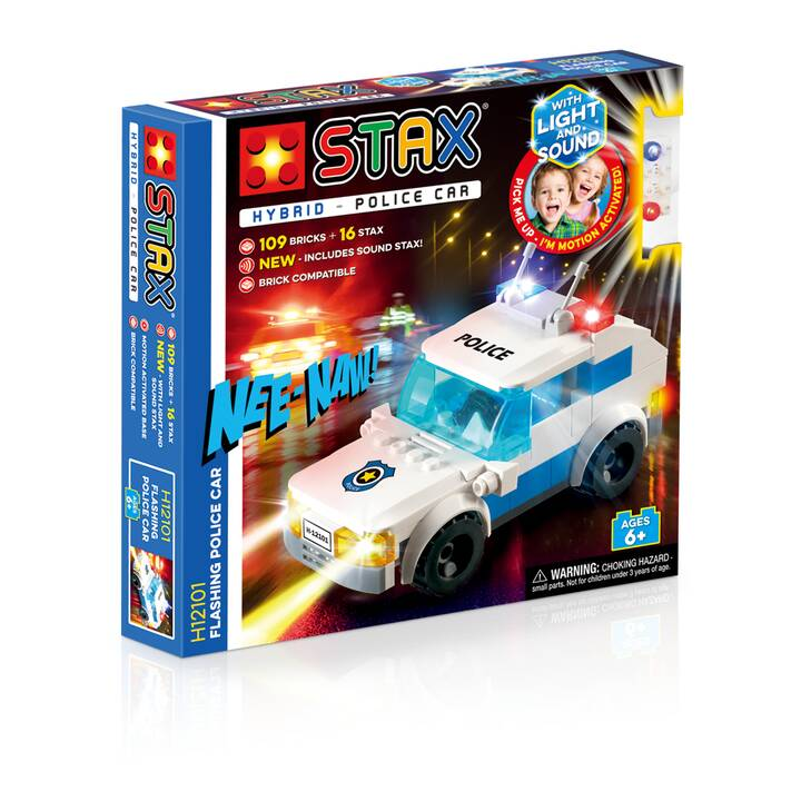 LIGHT STAX Flashing Police Car (Compatible avec LEGO®)