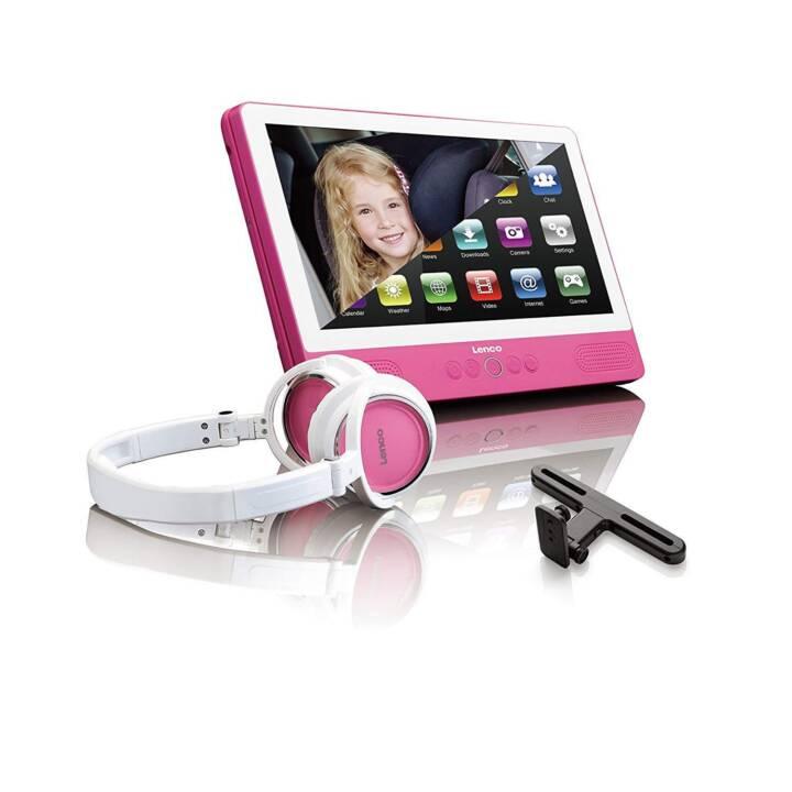 LENCO Lettore DVD portatile TDV-901 rosa