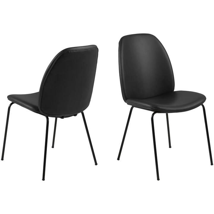 CREATIVE LIVING Chaise en cuir Warschau (Similicuir, Polyréthane (PU))