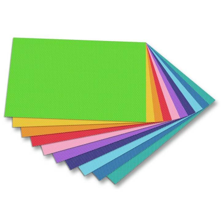 FOLIA Papier spécial Points (Multicolore)