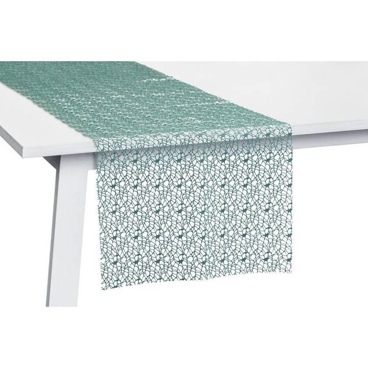 PICHLER Chemin de table Network (30 cm x 260 cm, Rectangulaire, Vert)