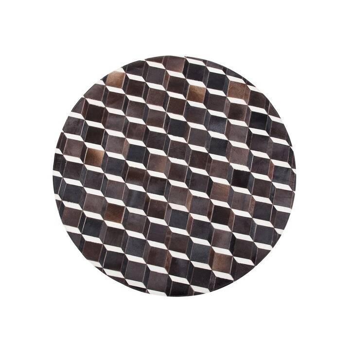 BELIANI Tapis Alpkoy (140 cm, Brun, Noir, Blanc)