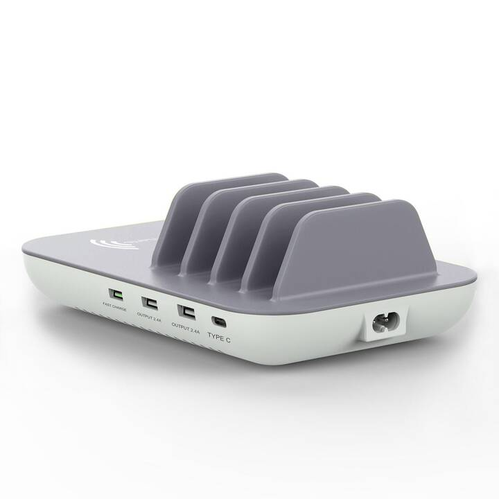 4SMARTS Family+ Ladestation (3 A, 2.4 A, 18 W, USB-C, USB-A)