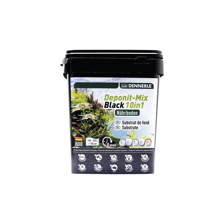 DENNERLE Substrato di fondo fertilizzante per piante acquario Deponit-Mix Black 10in1 (Nero, 9.6 kg)