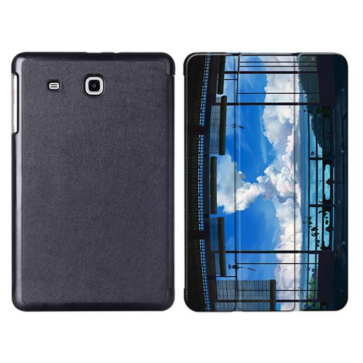 """EG MTT Tablet Tasche mit faltbarer Abdeckung für Samsung Galaxy Tab E 9.6 """"- Sky"""