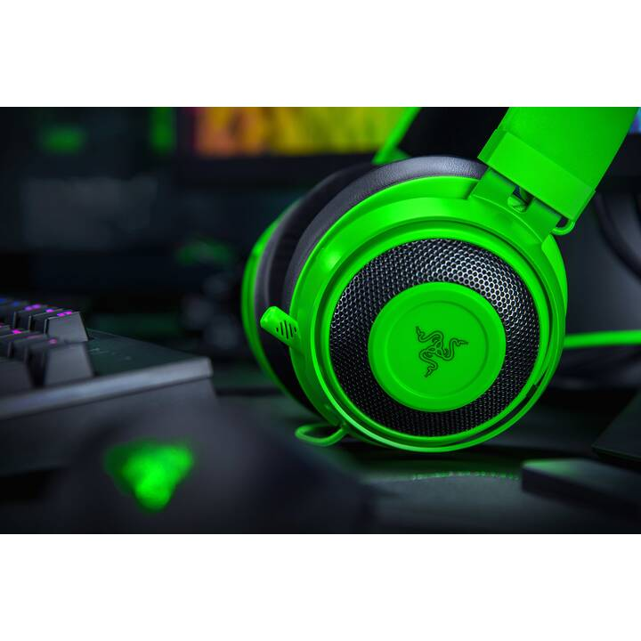 RAZER Kraken Green Gaming Headset (On-Ear, Verde)