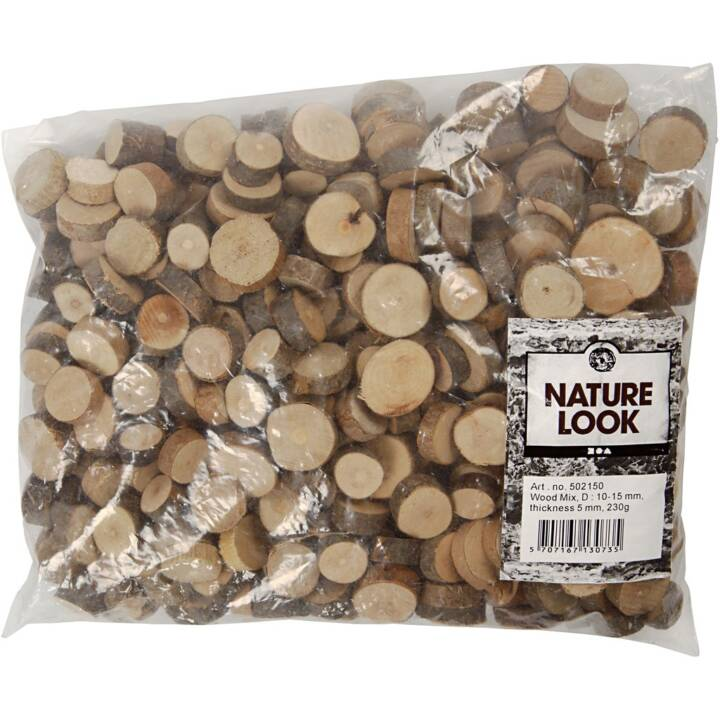 CREATIV Bois artisanal, 10-15 mm, 230 g
