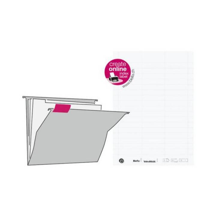 Etichette BIELLA 60x14 mm, bianco, 5 sacchetti da 51 pz.