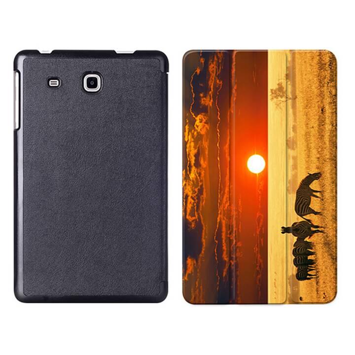 """EG MTT Tablet Tasche mit Smart faltbare Abdeckung für Samsung Galaxy Tab A A6 7 """"- Zebra"""