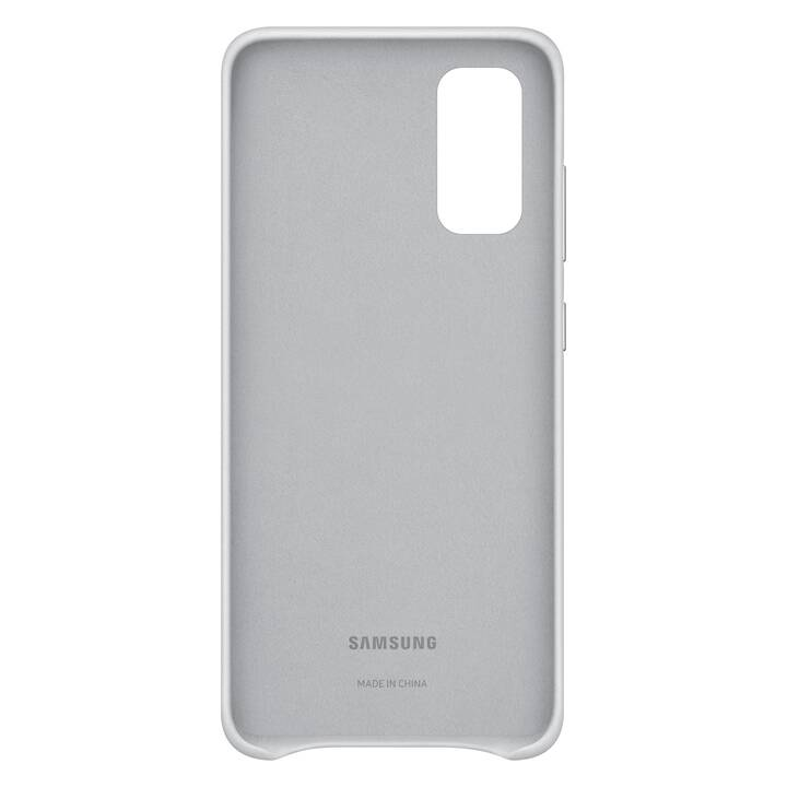 SAMSUNG Backcover Leather (Galaxy S20, Grigio chiaro)