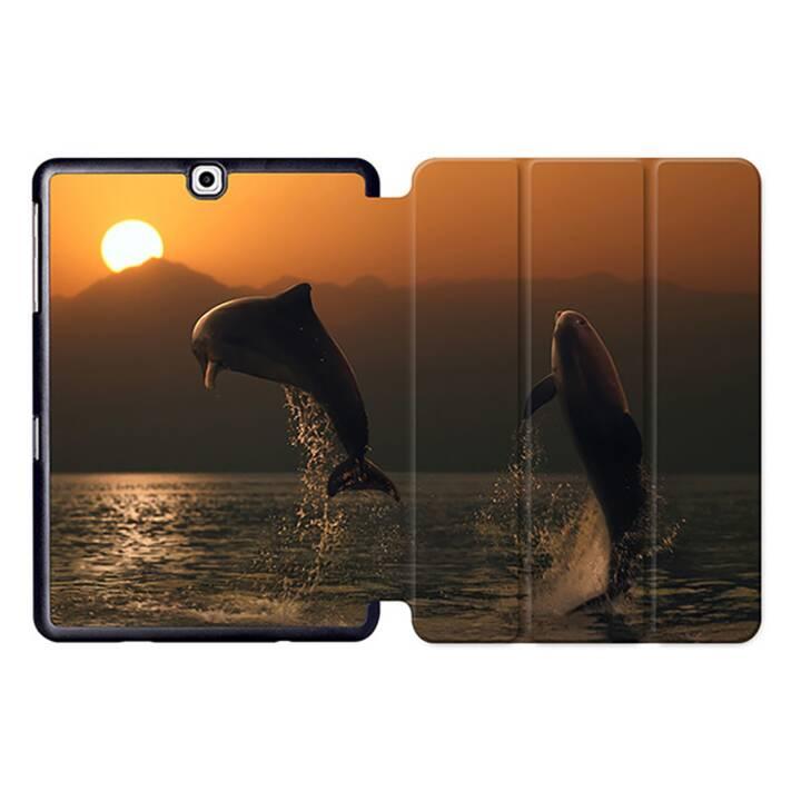 """EG MTT Sacoche à comprimés avec housse pliable Smart pour Samsung Galaxy Tab S2 9.7"""" MTT - Dolphins"""