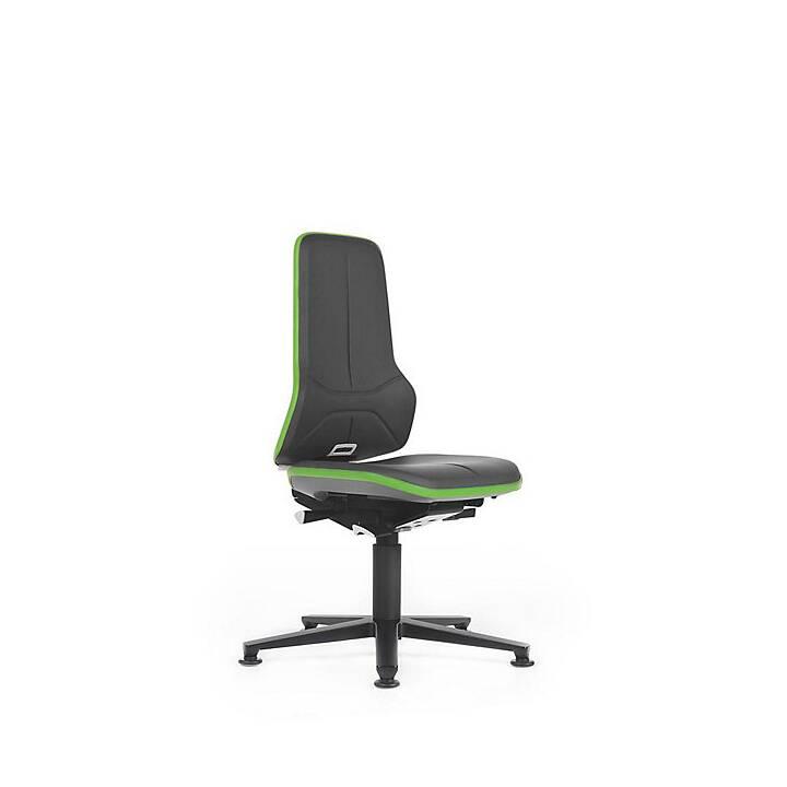 BIMOS Neon, inkl. Gleiter, Sitzhöhe 450 - 620 mm Sedi operative (Nero, Verde)