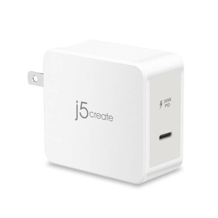 J5 CREATE Wandladegerät (3 A, 30 W, USB-C)