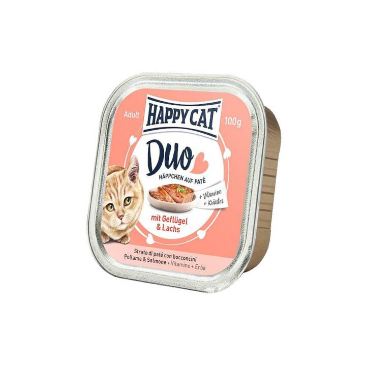 HAPPYCAT Duo (Adulto, 100 g, Salmone, Pollame)