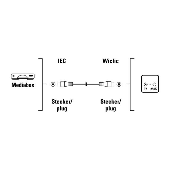 HAMA Câbles de liaison (IEC, Fiche F, 9 m)