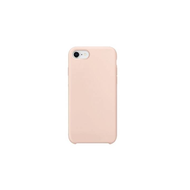 XQISIT Backcover Silicone Case (iPhone SE, Rosa)