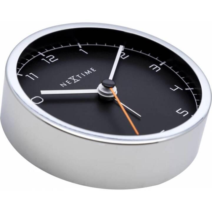 NEXTIME Quartz table clock Silber, Schwarz