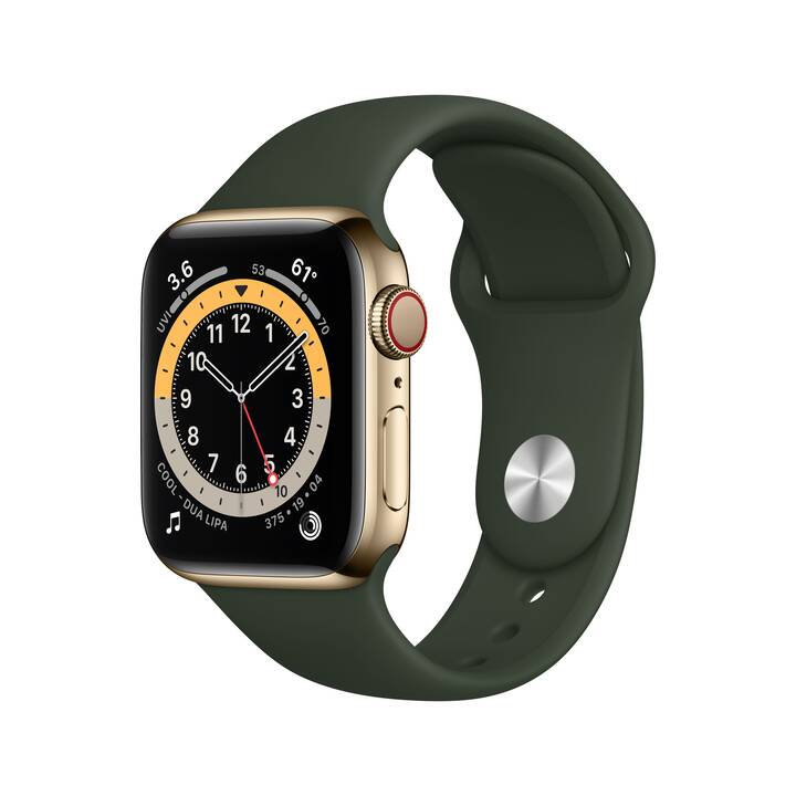 APPLE Watch Series 6 GPS + Cellular (40 mm, Acciaio Inox, Silicone)