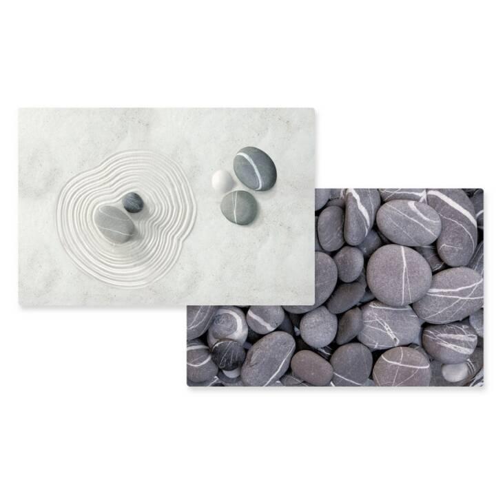 EASY LIFE Tischset Dark Stones/Zen (Polypropylen, Mehrfarbig)