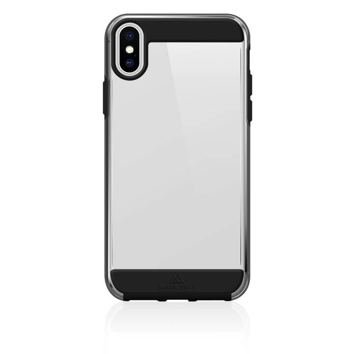 BLACK ROCK Backcover Air (iPhone XS Max, Argento, Nero)