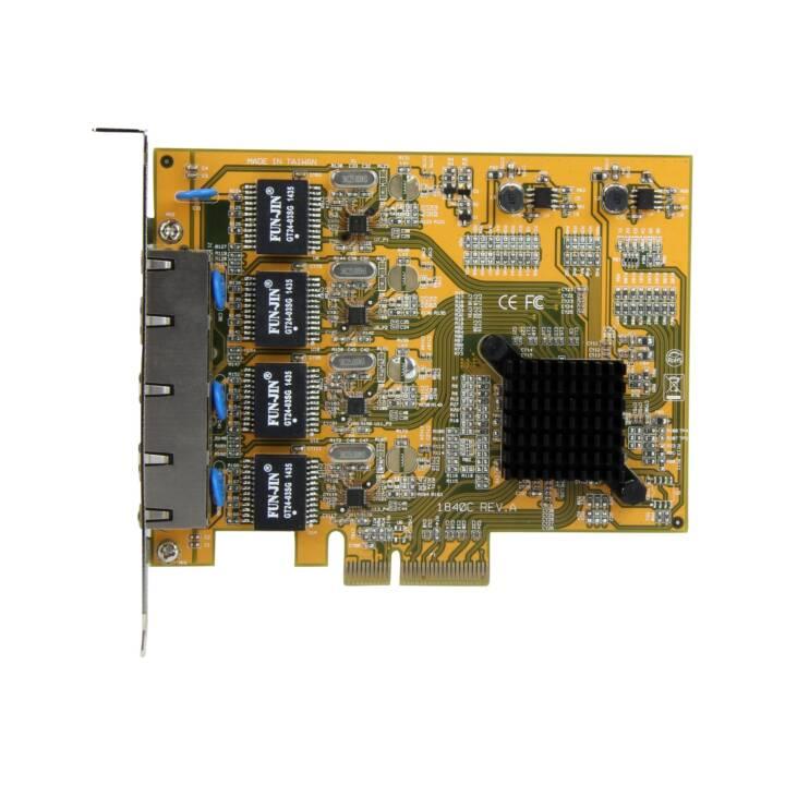 STARTECH.COM PCI Express Netzwerkkarte (4 x RJ-45)