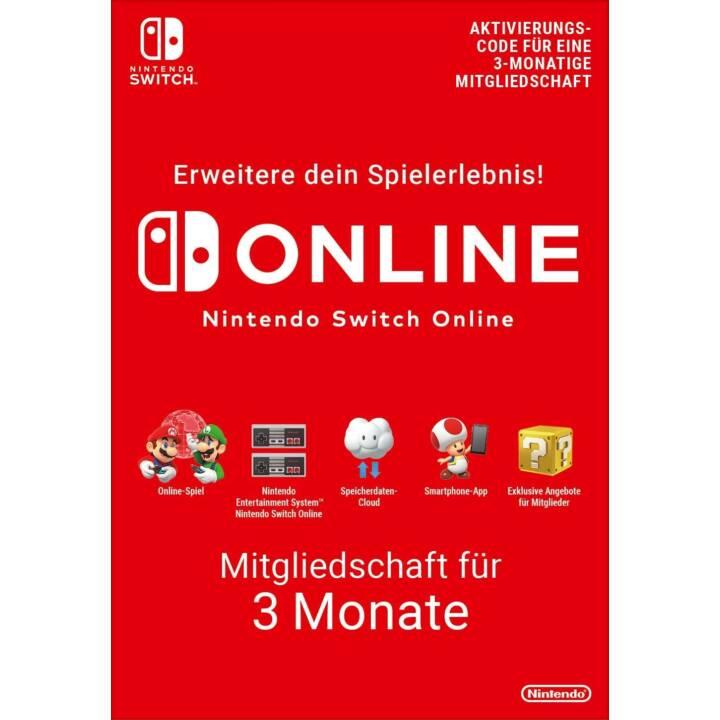 NINTENDO Online 3 Mois (PKC, DE, FR, IT)