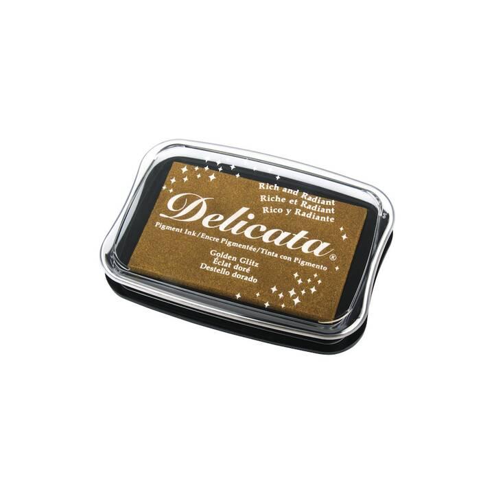 RAYHER Cuscinetto per timbro Delicata Metallic Oro