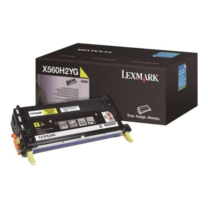 LEXMARK X560H2YG (Cartouche individuelle, Jaune)