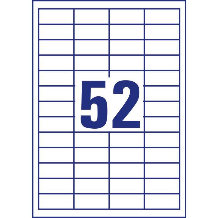 AVERY ZWECKFORM 3650 ultragrip Etiketten (A4, 48 x 21 mm, 100 Blatt)