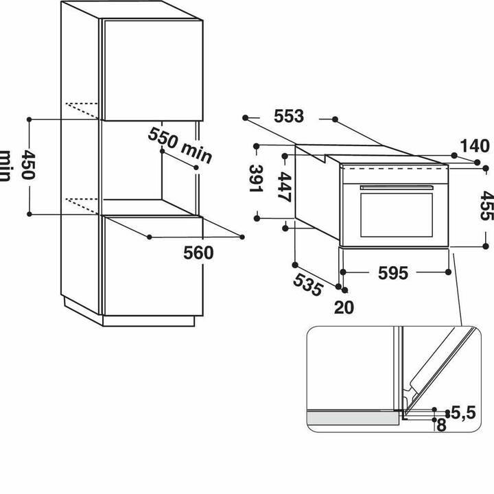 BAUKNECHT Kombi Steamer/Backofen EMPK7 6645 PT (Ein- / Unterbau, EU-Norm 60 cm)