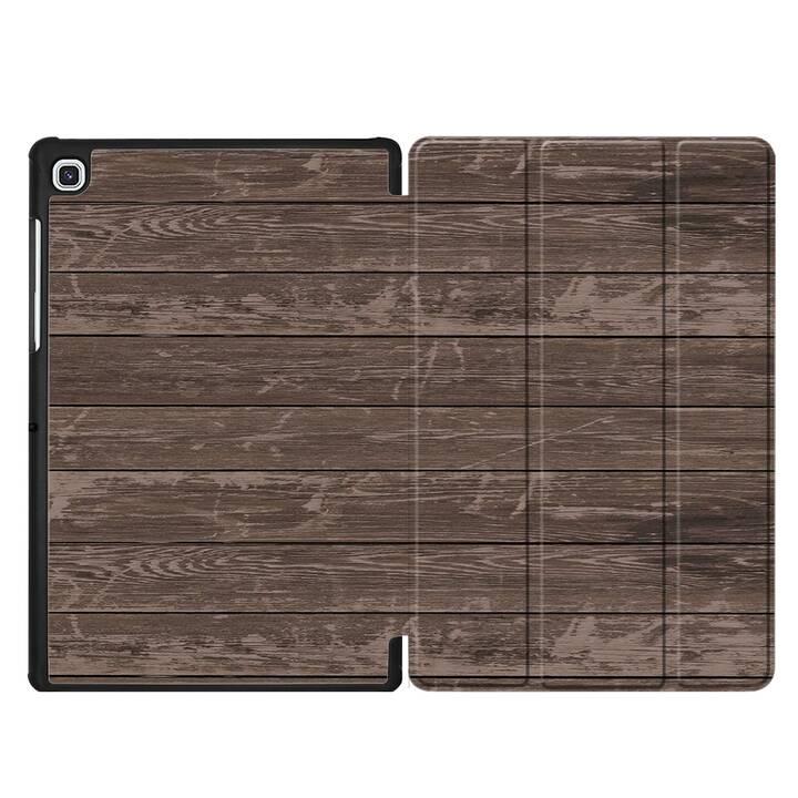 "EG MTT Custodia per Samsung Galaxy Tab S5e 10.5"" 2019 - venatura del legno"