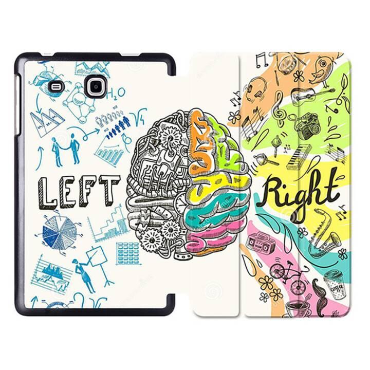 """EG MTT Sacoche à comprimés avec housse pliable Smart pour Samsung Galaxy Tab A6 7"""" A6 Tablet - Brain"""
