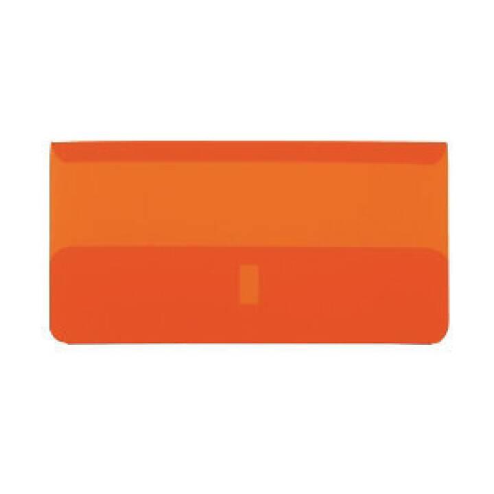 BIELLA Maniche trasparenti arancione, sacchetto da 25 pz.