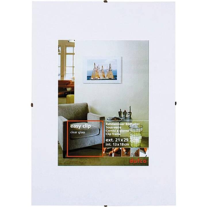 DUFCO Easy Clip Foto- & Bilderrahmen (13 cm x 18 cm, Weiss)