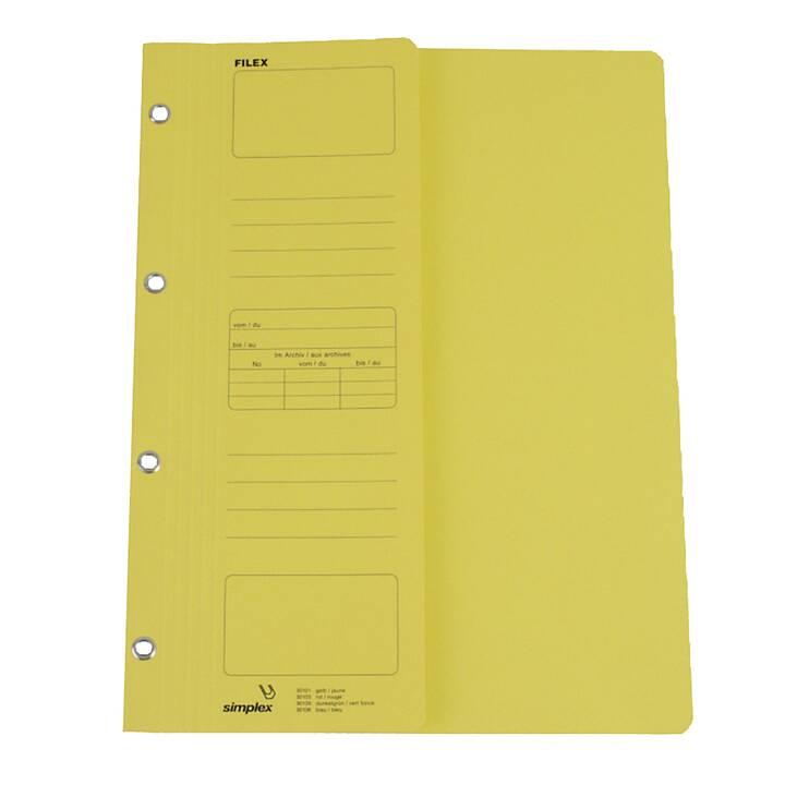 SIMPLEX Cartellina ad aghi Filex (Giallo, A4, 1 pezzo)