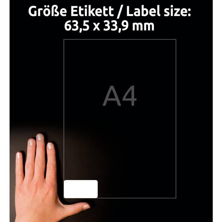 AVERY ZWECKFORM L7159-100 ultragrip Ettiquettes (A4, 63.5 x 33.9 mm, 100 feuille)