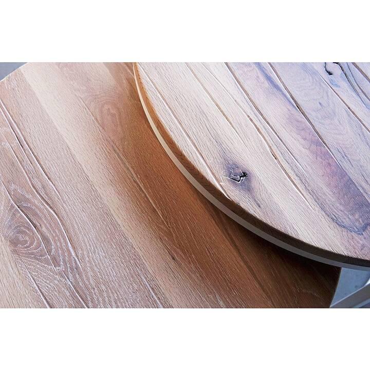 MUTONI WOOD Tavolino da salotto Whitby (44 cm, Beige, Bianco)