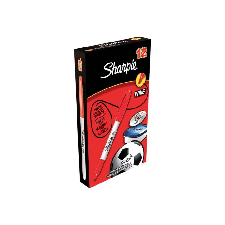 SHARPIE Fineliner Permanent Marker, 1 mm, Rot