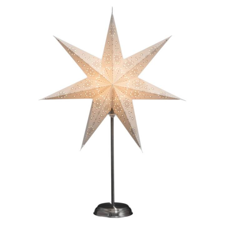 KONSTSMIDE Étoile de papier sur fond argenté