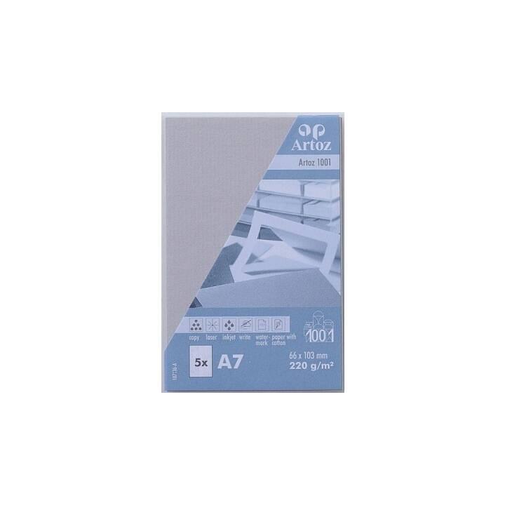 Cartes de visite ARTOZ 1001 A7 gris clair - 5 pièces